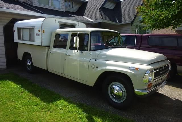 International Pickup Aluminum Pop Up Camper