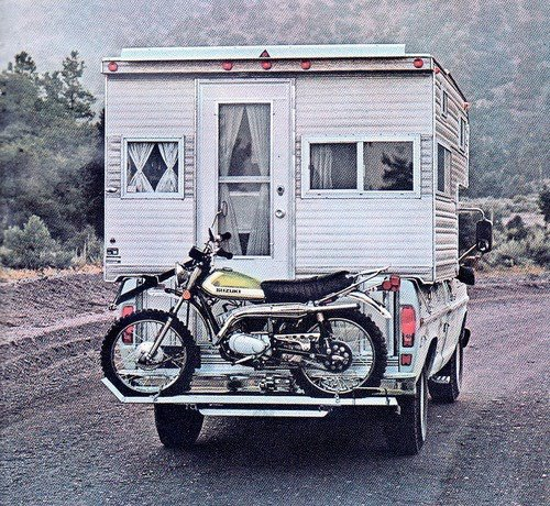 Camper with Motorcycle