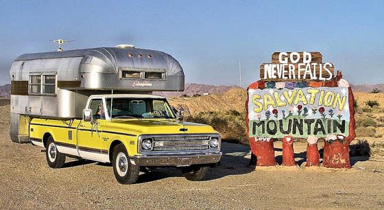 Truck Camper Salvation Mountain