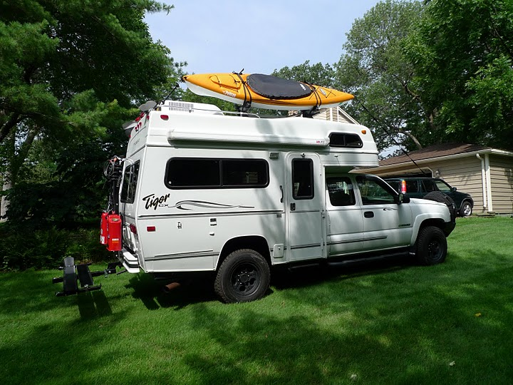 Chevrolet Class C Camper with Kayak