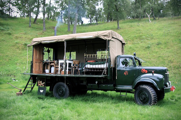 Take And Vintage Truck Build A Custom Camper On It Park In Stunning Beautiful Place Outfit Is With The Comforts Of Home
