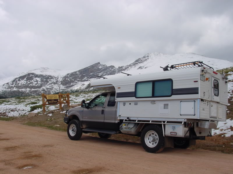 Ford Truck Alaskan Camper Mountains