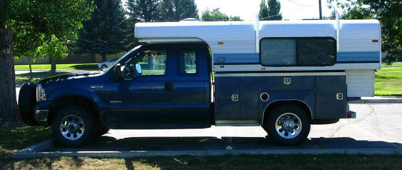 Ford Truck Ultily Bed Alaskan Pop up Camper