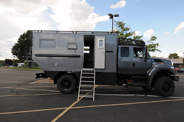 Heavy Duty Grey Truck Camper