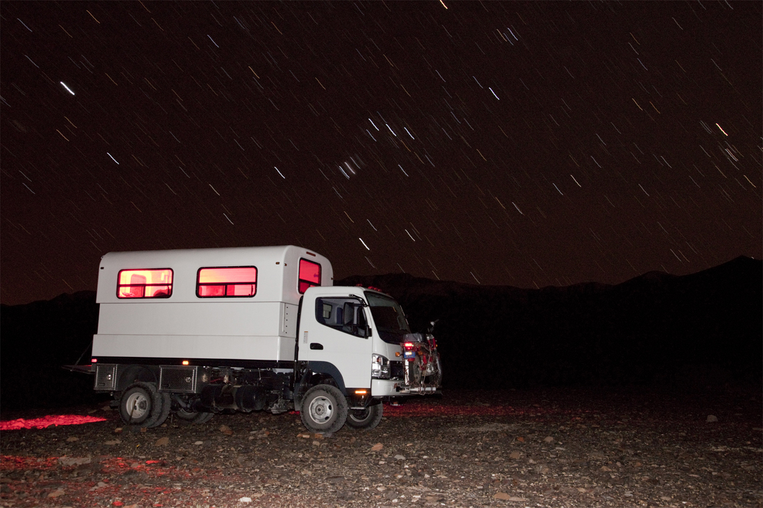 Truck Camper in the Snow