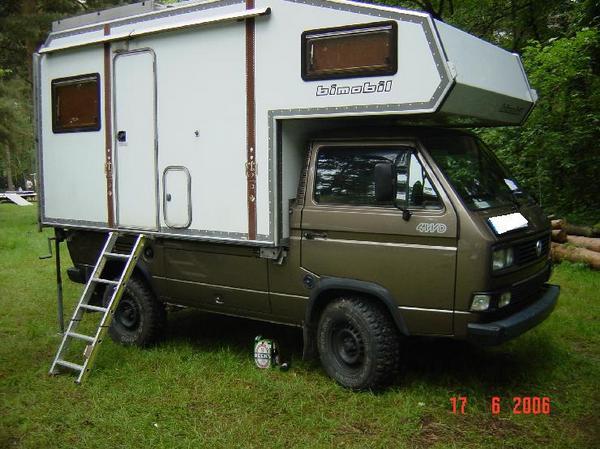 Volkswagen truck with Bimobil Camper