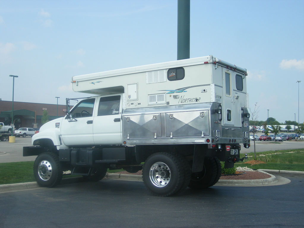 NotrhStar Camper on Flat Bed Truck