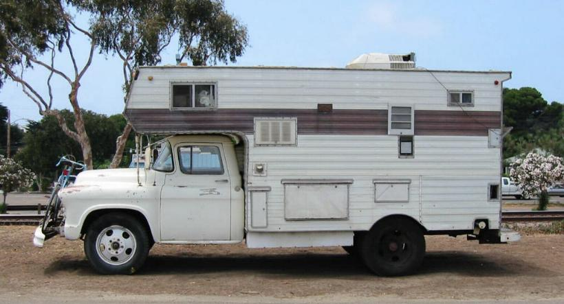 Classic GMC Truck Chassis Mount Camper