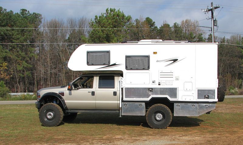 Custom Ford F550 and Lance Camper