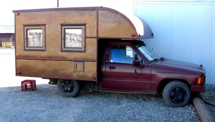 Custom Wood Camper Toyota Truck