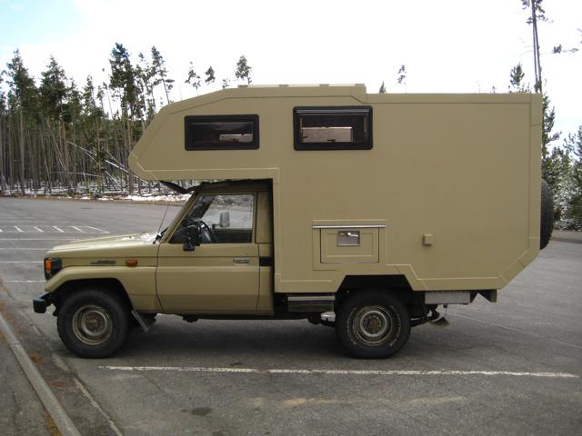 Desert Tan Military Style Truck Camper