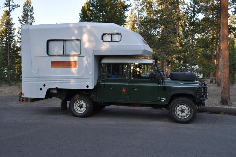 Land Rover Quad Cab Fiberglass Cab Over Camper