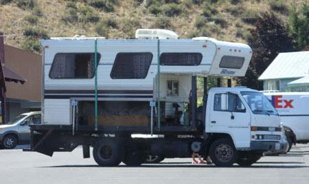 Flat Bed Truck Truck Camper Hq