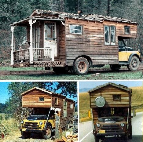 cute cabin on truck camper