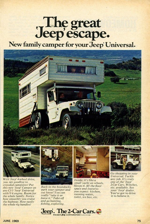 advertisement Jeep Camper