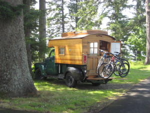 Chevy Truck Homemade Wood Camper