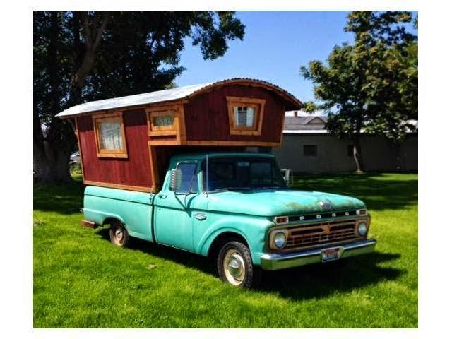 Handmade Gypsy Camper On Vintage Ford Truck Truck Camper Hq