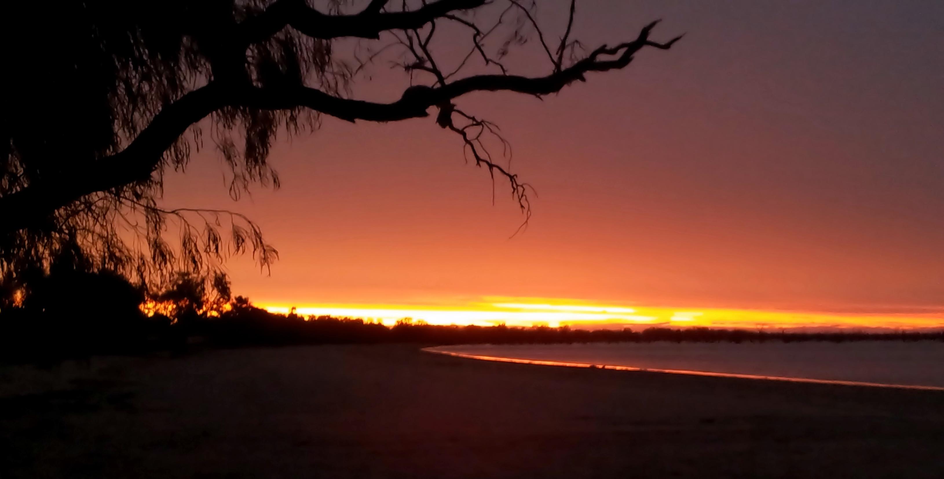 Lake Pamamaroo Outback Sunset Australia