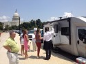 Participants at the 2014 Capitol Hill Day examine a motorhome in front of the Capitol Building. This year's event features a reception for the newly-formed Senate RV Caucus. Photo courtesy of RVIA.